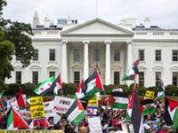 Beyaz Saray önünde İsrail protestosu