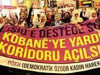 Kadınlar Kobani için yürüdü