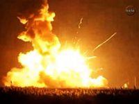 NASA aracı havada infilak etti