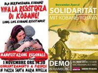 Beş kıtada, 100'e yakın kentte Kobani için yürünecek