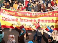 Diyarbakır: 'YPG, YPJ ve Peşmergeyi selamlıyoruz'