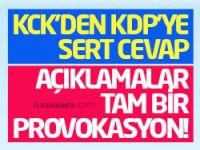 KCK'den KDP'ye cevap: Açıklamalar tam bir provokasyon!
