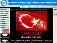 DİSK'in resmi web sitesi hack'lendi