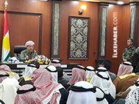 Barzani'den Arap aşiret liderlerine: IŞİD'e yardım edenler de IŞİD'liler gibi muamele görecektir