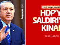 Cumhurbaşkanı Erdoğan HDP'ye saldırıyı kınadı