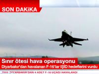 Türk jetleri Suriye'de 'IŞİD hedeflerini' bombaladı
