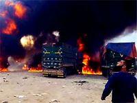 Rus savaş uçakları Suriye'ye giden TIR'ları bombalandı: 7 ölü