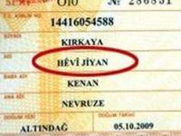 Kürtçe karakter nüfus cüzdanında