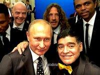 Maradona'dan Putin selfiesi!