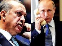 Erdoğan ile Putin telefonda Suriye'yi görüştü