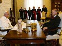 Erdoğan, Papa Franciscus ile görüştü