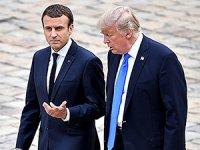 Macron ile Trump Suriye'yi görüştü