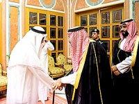 Kral Selman ile Veliaht Prens Kaşıkçı'nın oğulları ile görüştü