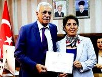 Ahmet Türk ve Figen Altındağ mazbatalarını aldı
