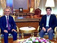 Neçirvan Barzani, Necmedîn Kerîm'i kabul etti