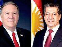Pompeo'dan Mesrur Barzani'ye destek telefonu
