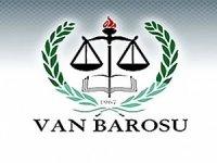 Van Barosu: Baştepe'deki adli yıl açılışına katılmayacağız