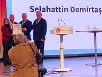 Demirtaş 'Siyasi Cesaret Ödülü'ne layık görüldü