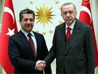 Mesrur Barzani, Erdoğan ile bir araya geldi