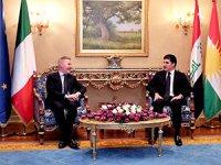 Neçirvan Barzani, İtalya Savunma Bakanı Guerini ile görüştü