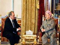 Mesud Barzani ile Mihail Bogdanov Hewler'de görüştü