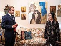 Macron, Lübnan ziyaretinde Fayrouz ile görüştü
