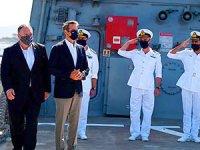 Pompeo, Girit'teki ABD askeri üssünü ziyaret etti