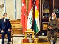 Mesud Barzani, Hulusi Akar ile görüştü