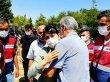 Yüksekdağ babasının cenaze törenine katıldı