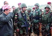 Ve Mesud Barzani cephe'de...